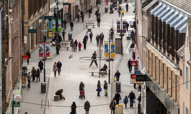 Perth is the only place in Scotland where more shops opened than closed in the past year.