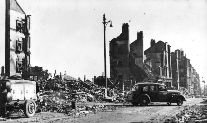 Much of Clydebank was destroyed by the Luftwaffe.