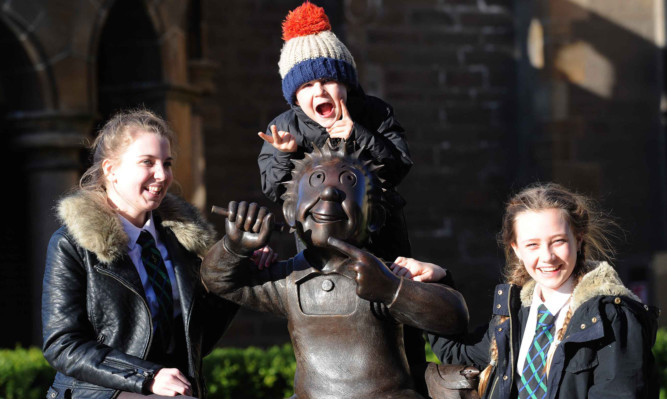 Oor Wullie has fast become a stopping-off point for photos.