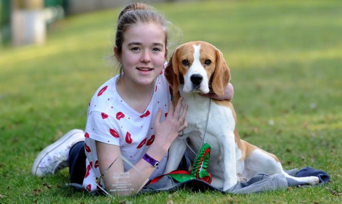 Ella Findlay with her dog Angus.