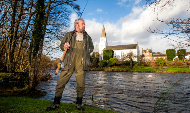 Pat Silvey, secretary of Comrie Angling Club, pictured at the River Earn where there will now be a curb on keeping fish caught there.