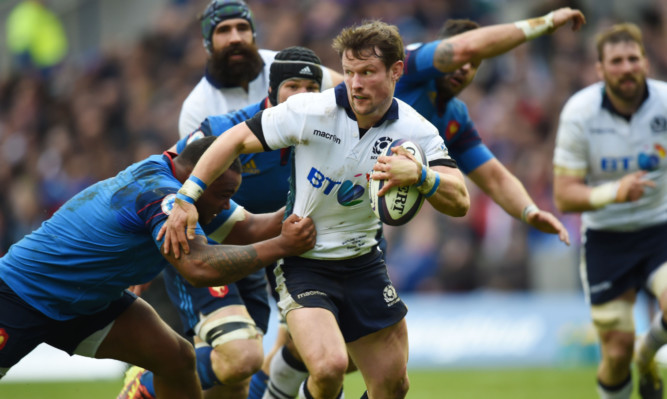 """Peter Horne, """"outstanding"""" against France, could feature at 10 in Dublin for Scotland."""