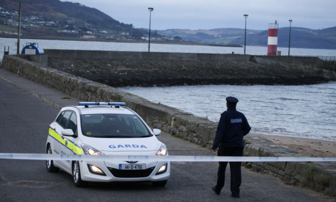 The car slipped into the water at Buncrana Pier in Co Donegal.