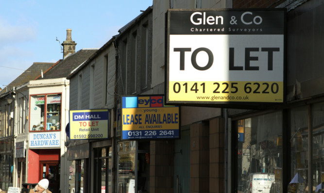 A review of business rates could help regenerate void blighted shopping precincts across Scotland.