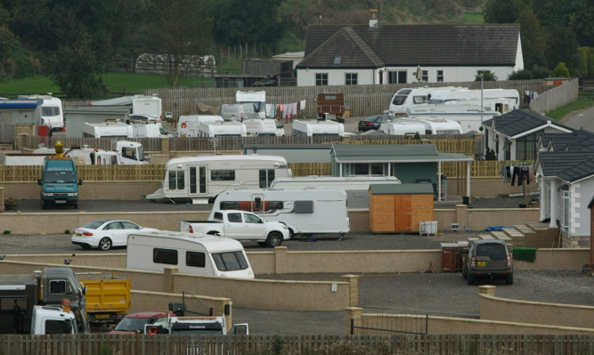 The Travellers site at St Cyrus.