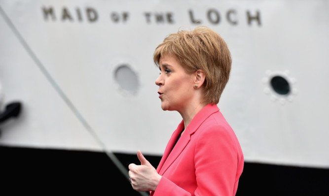 Nicola Sturgeon visits the Maid of the Loch paddle steamer in Balloch.