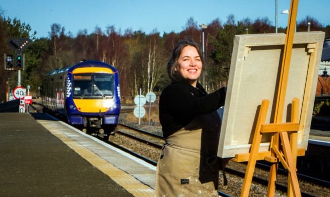 Artist Kirsty Lorenz runs her art studio from Ladybank Railway Station
