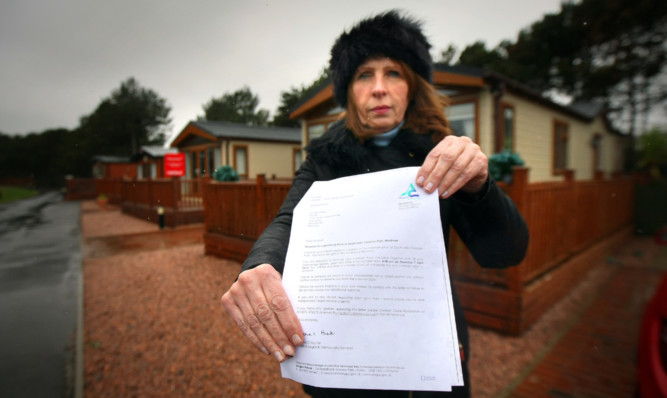 Anger: Helen Reid is just one of the residents told she has until April 7 to leave her home at the Montrose holiday park.