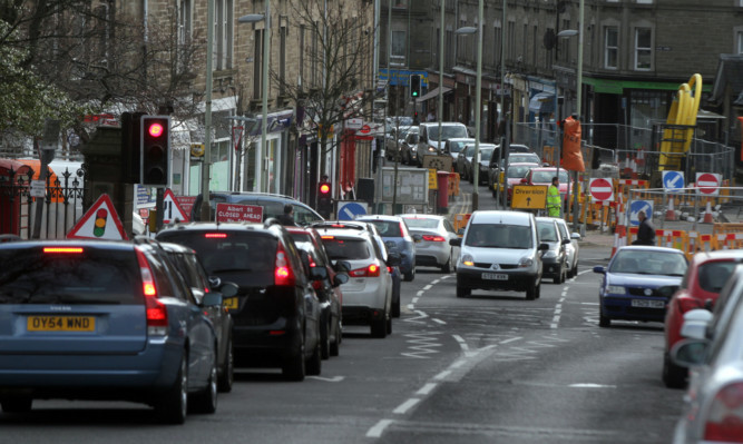 The gas mains renewal work has caused major delays.