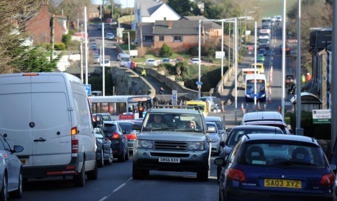 Drivers have endured weeks of delays around Guardbridge.