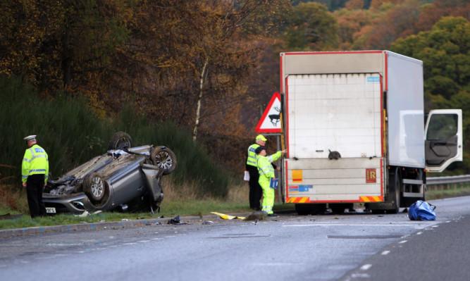 Simpson veered into John Trimble's car on the A9 near Ballinluig in Novermber 2014.
