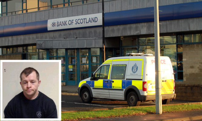 Patrick (inset) admitted forcing the cabbie to rob the Bank of Scotland in the Mitchelston Industrial Estate.