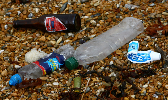 More than half the rubbish on Scotlands beaches is made of plastic.