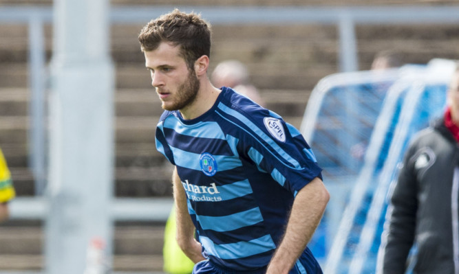 Danny Denholm scored the first goal in a vital win for Forfar.