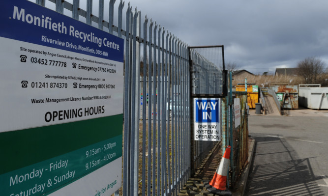 Monifieth Recycling Centre is one of the centres that may close.