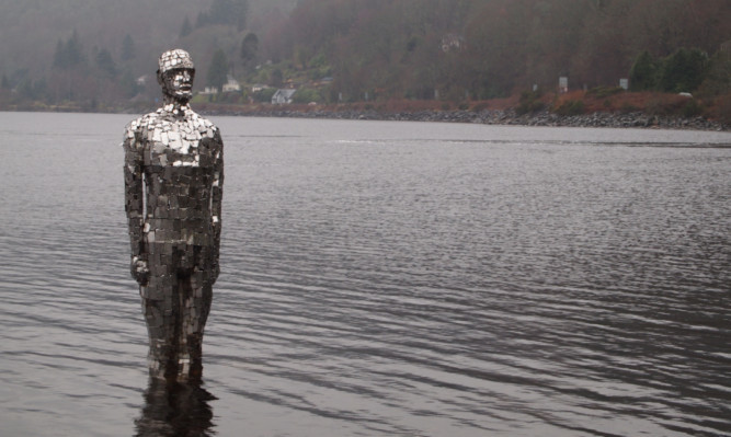 The mirror man is back in the loch at St Fillans.