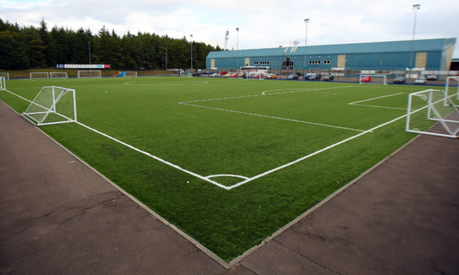 The training pitch at McDiarmid Park which would be moved.