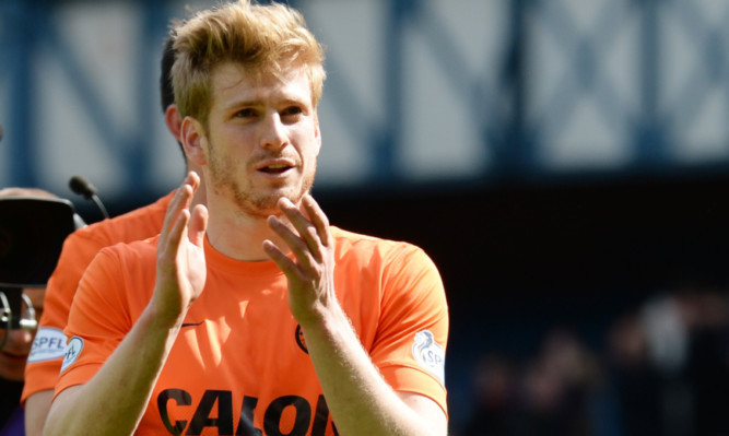 Stuart Armstrong after winning at Ibrox with United.