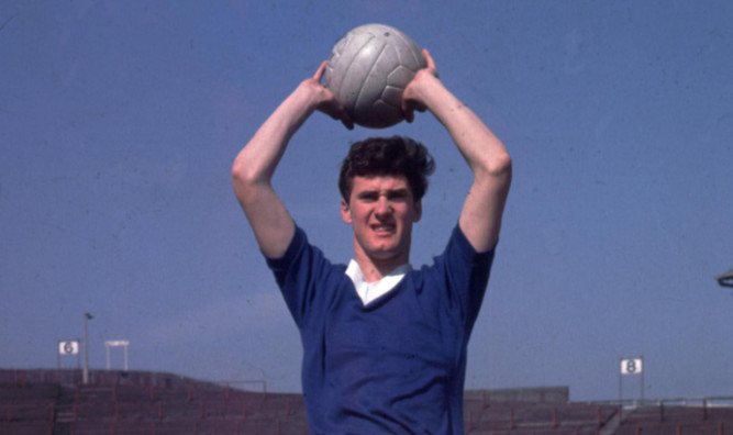 Jim Baxter in action for Rangers in 1962/63 season