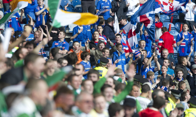 Celtic and Rangers supporters are being wanred they risk banning orders even if they are not at the match.