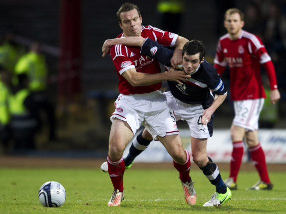 Gavin Rae in action for Aberdeen against Dundee.