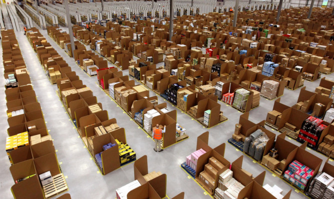 Amazon's Dunfermline facility is approximately the size of 14 football pitches.