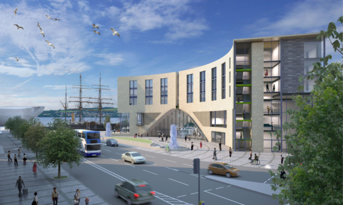 An impression of how the railway station hotel could look.