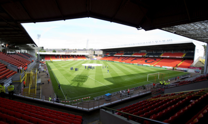 19/08/12 CLYDESDALE BANK PREMIER LEAGUE DUNDEE UTD V DUNDEE (3-0) TANNADICE - DUNDEE An interior view of Tannadice in advance of kick-off at the Dundee derby