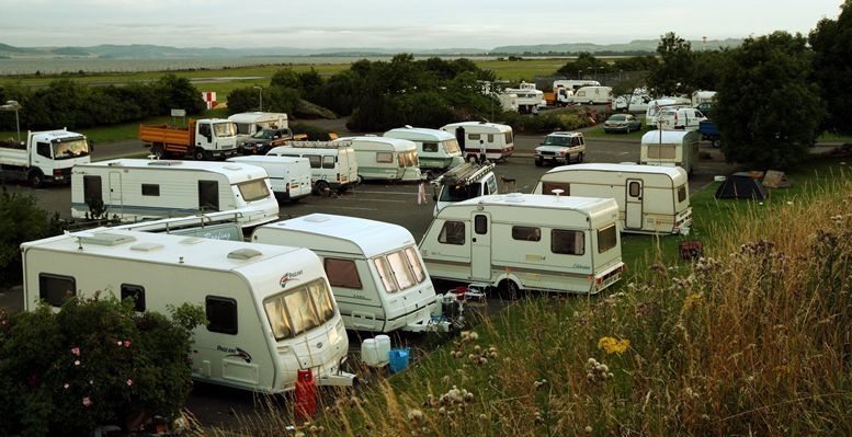 John Stevenson, Courier,03/08/10.Dundee.Pic shows the travellers site on Riverside Drive.