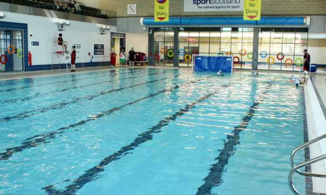 One of the pools at Montrose Sports Centre.