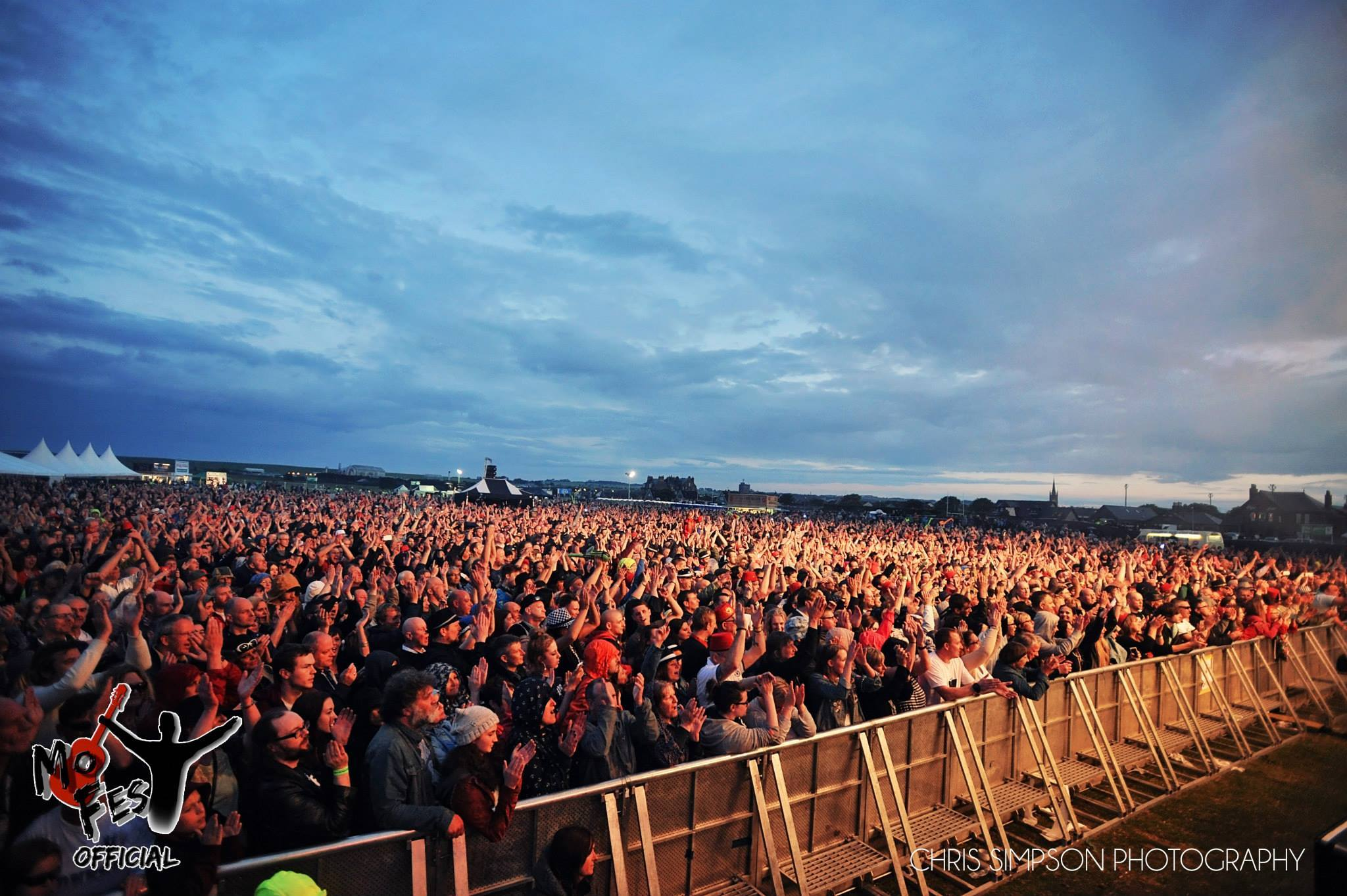 The crowd at East Links when Madness performed in 2015.