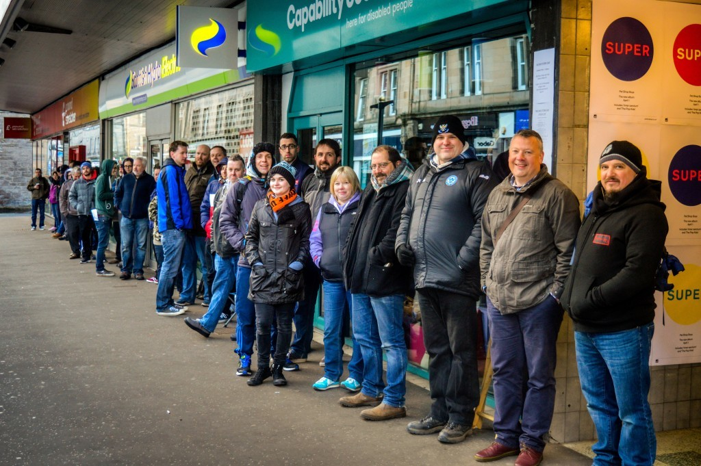 Queues outside Concorde on Record Store Day in Perth
