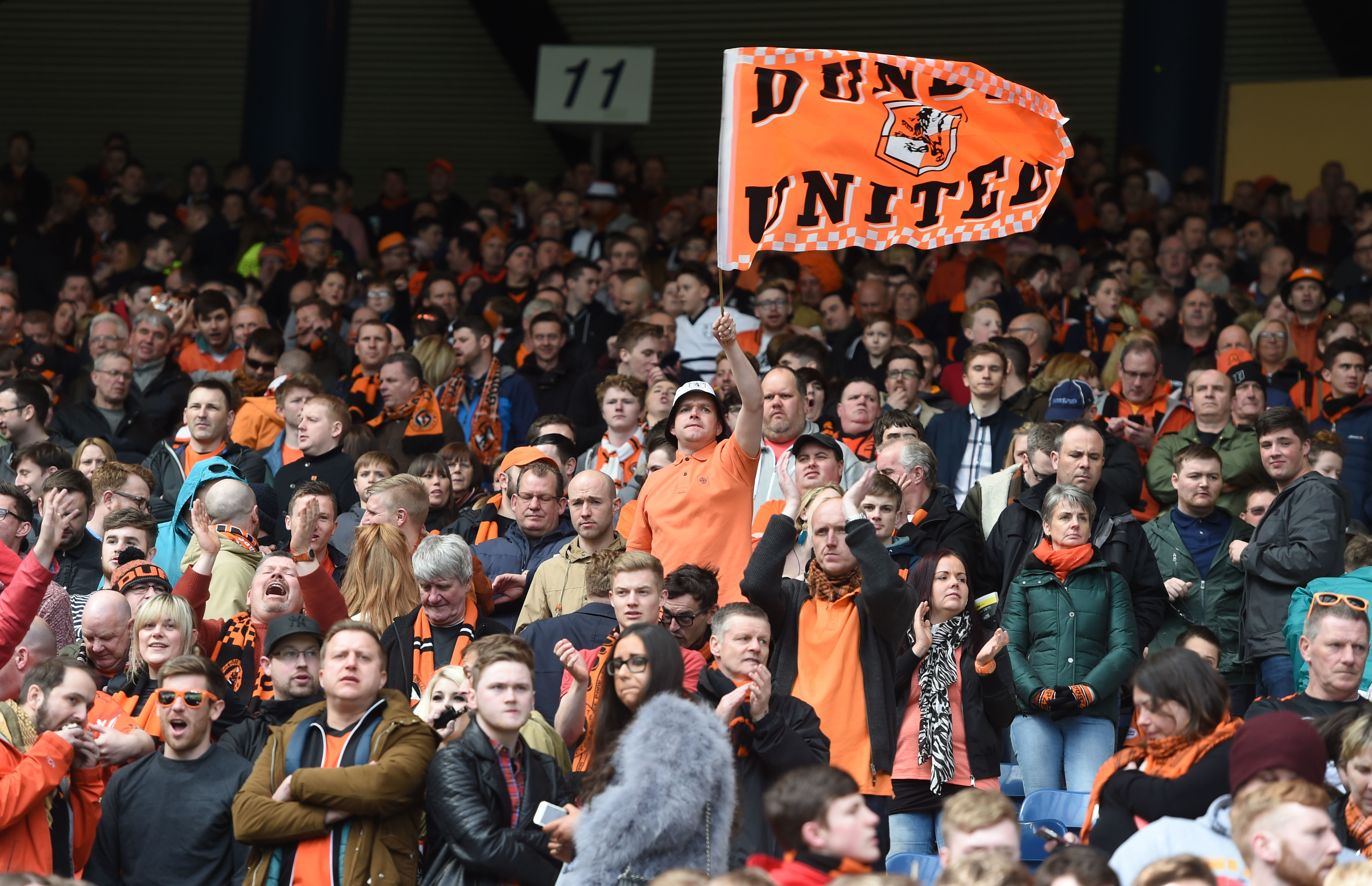 Dundee United fans are devastated after defeat at Dens saw their relegation fate sealed.