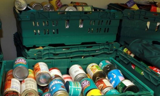 Food bank donations.