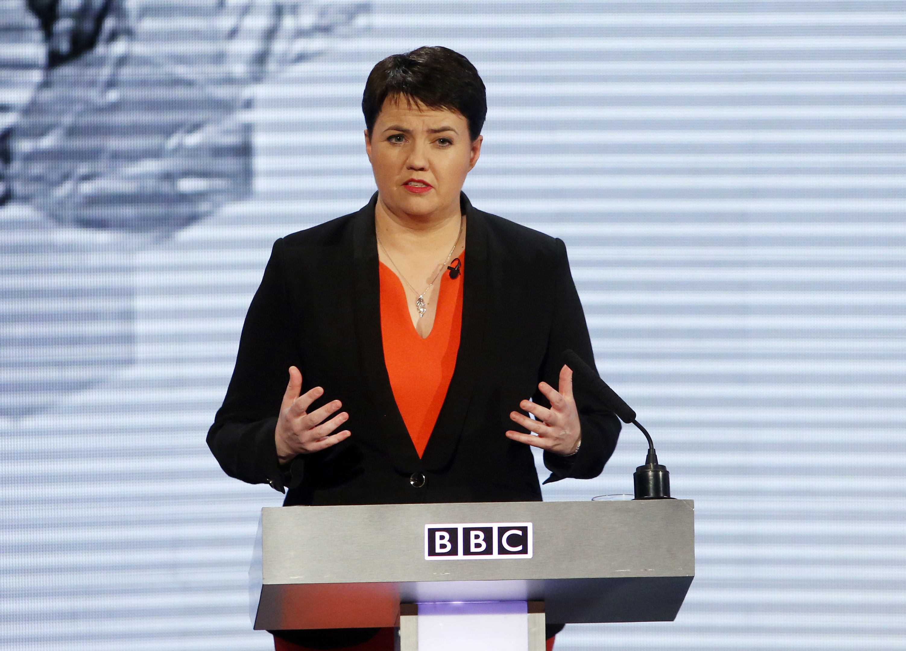 Ruth Davidson is being lined up as the next Tory to take on Mr Johnson on TV