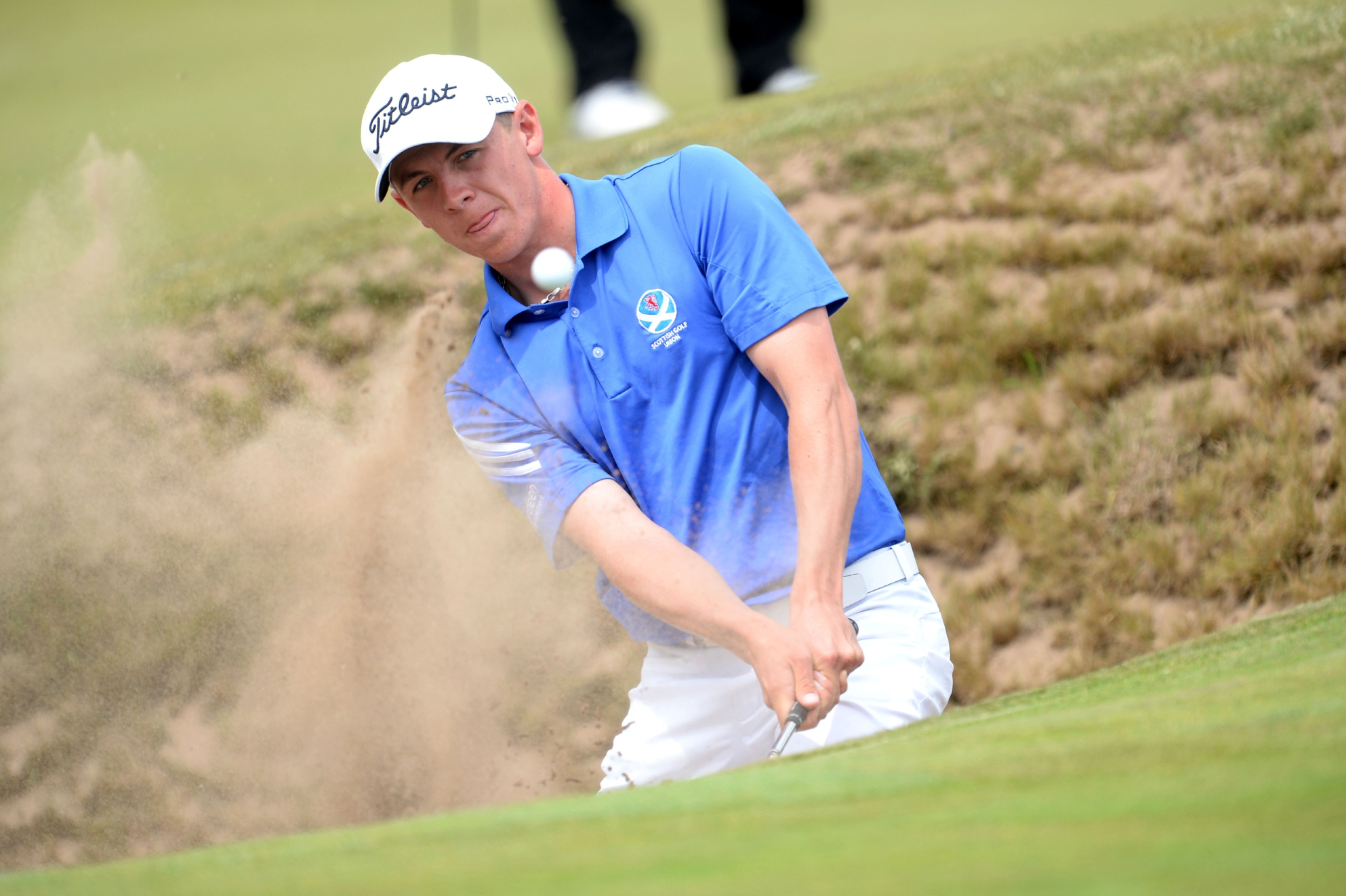 Grant Forrest's furious start at Gullane had a share of the lead but he eventually finished second to Australia's Cameron John.