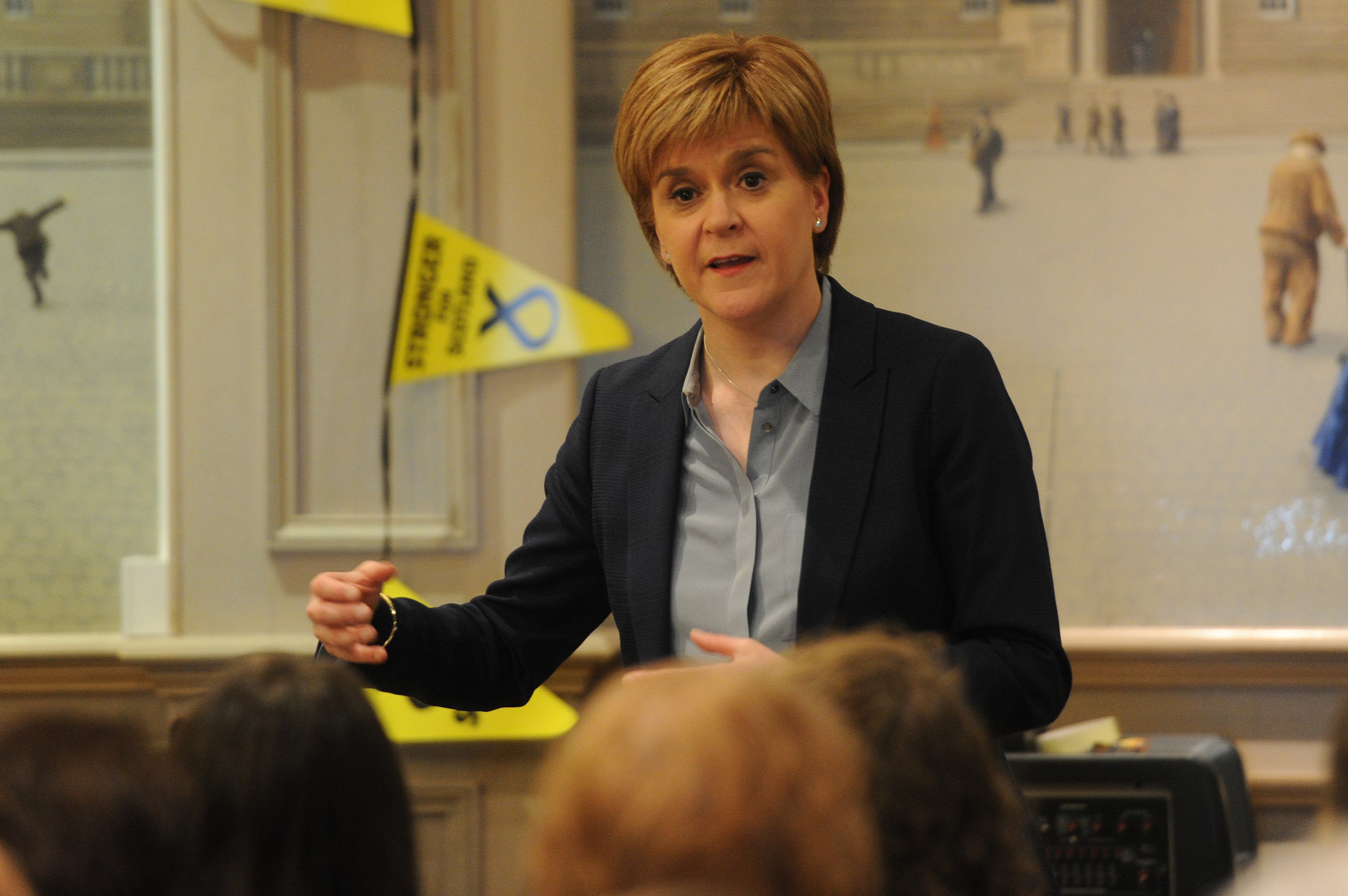 First Minister Nicola Sturgeon during the Q&A at the Queen's Hotel