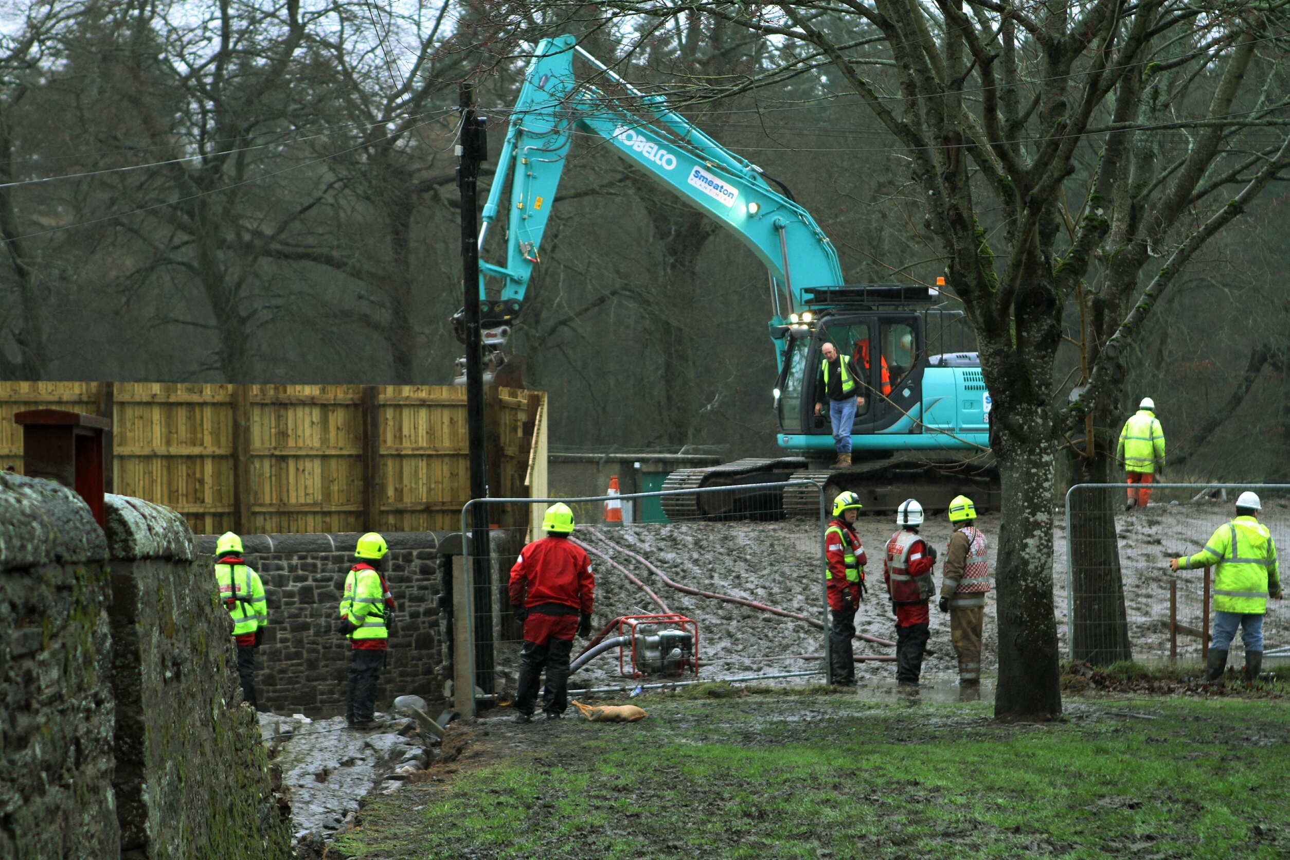 The road was closed as part of the flood prevention scheme work.