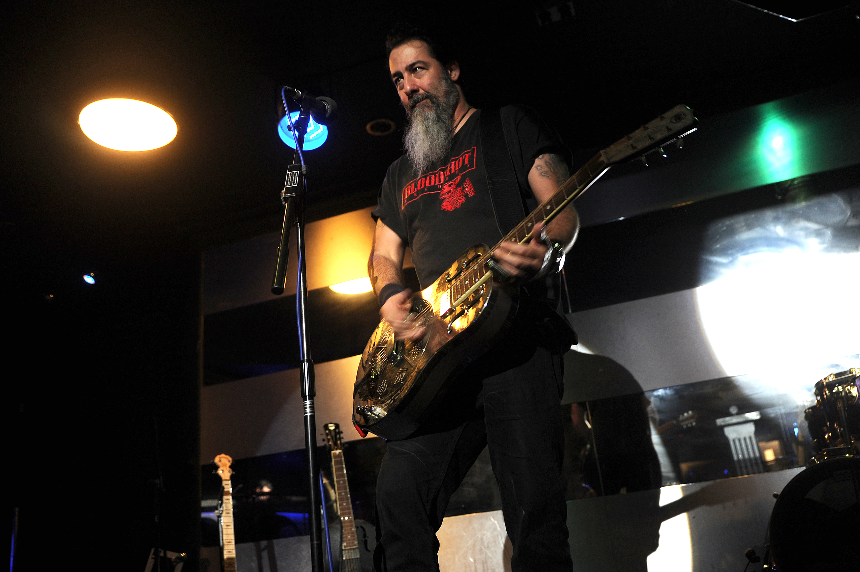 Dave Arcari on stage at the Beau Nightclub during Almost Blue 2015.