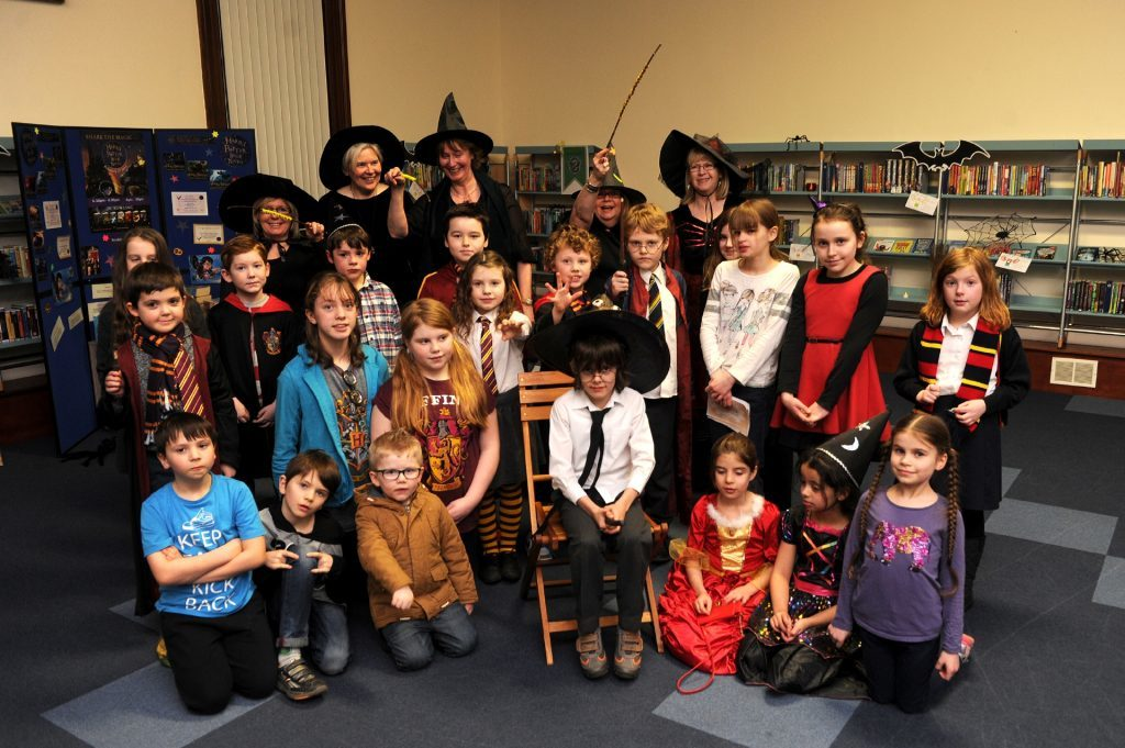 The library plays host to all manner of events. Pictured are youngsters who attended a Harry Potter night.