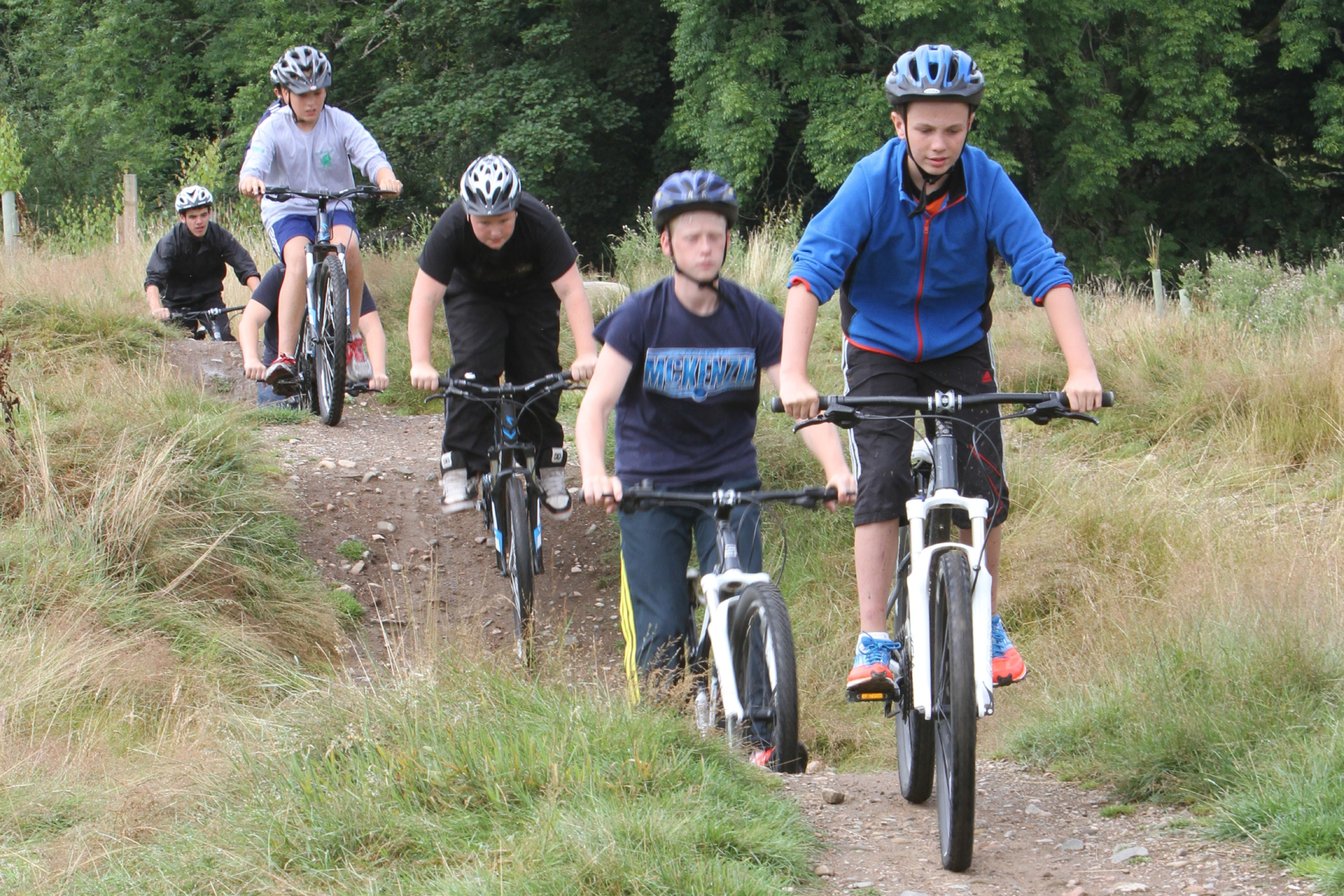 Kids taking part in a mountain bike challenge at last year's Cream o' the Croft festival.