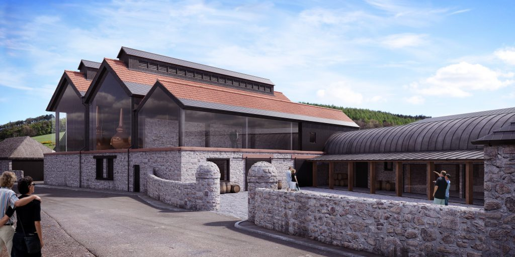 An artists impression of how the distillery will look at Lindores Abbey