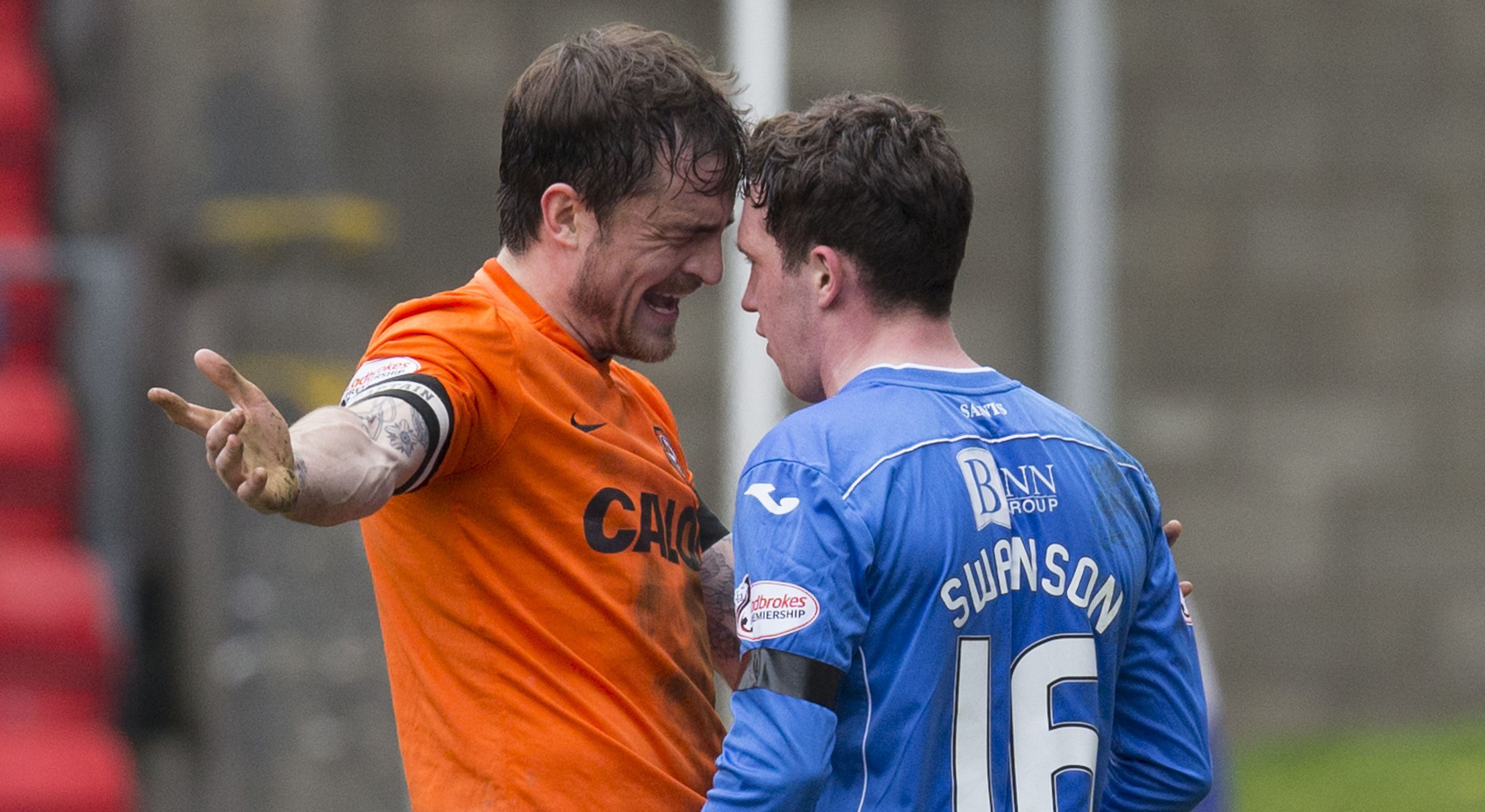 Paul Paton and Danny Swanson square up in the last derby.
