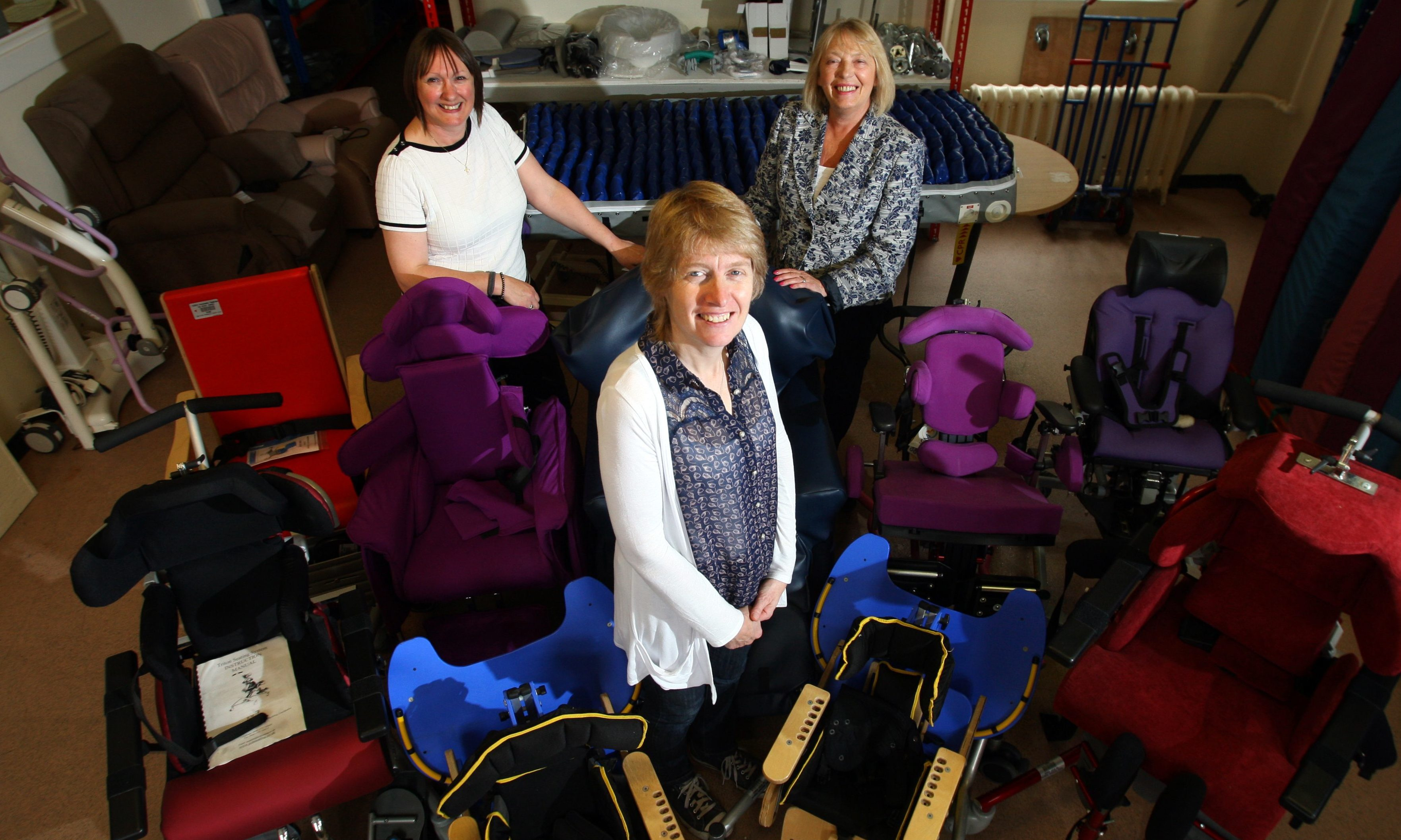 Specialist paediatric chairs being donated to Malawi last year as part of the St Andrews Church Malawi Project.