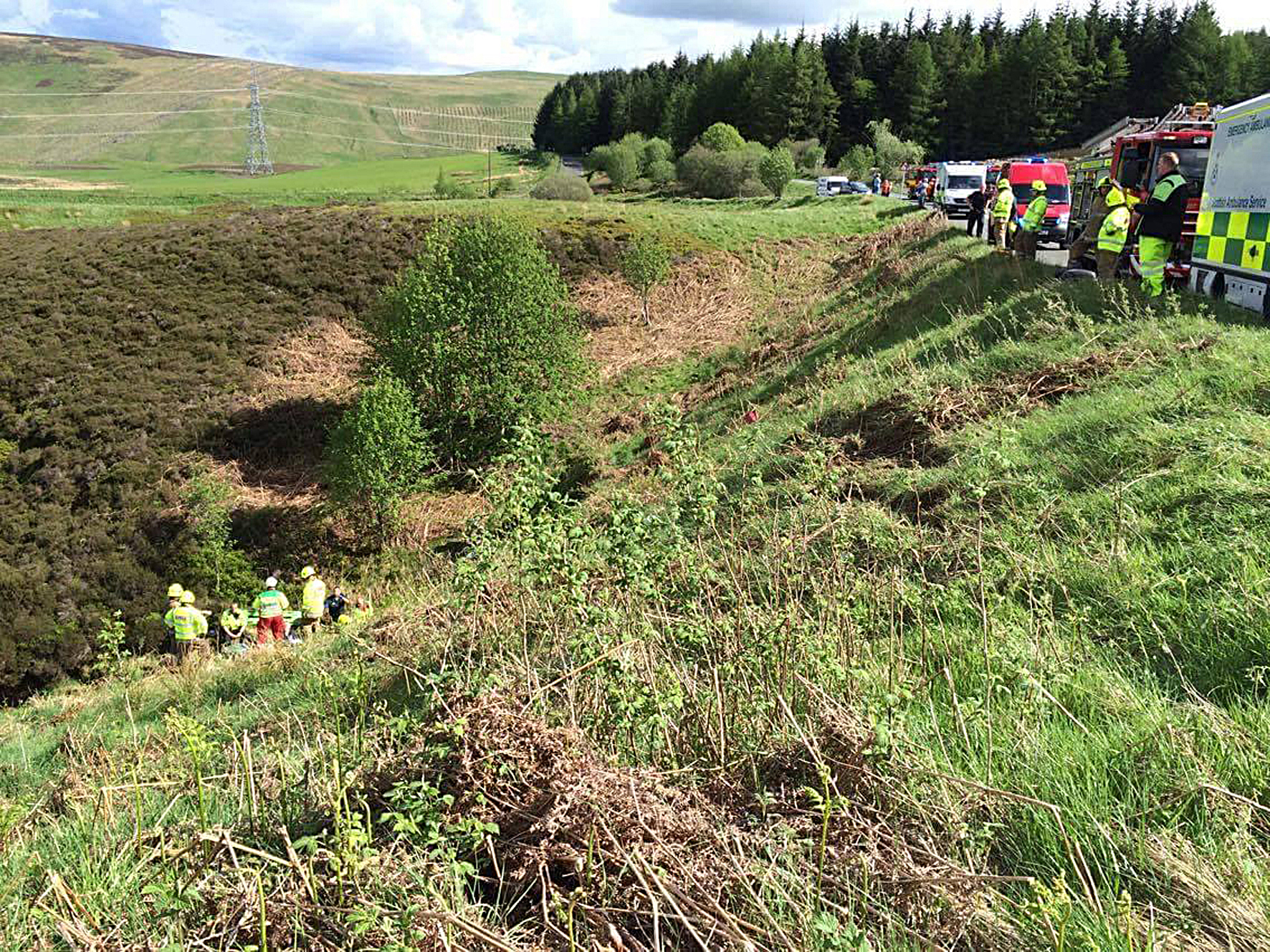 The Scottish Fire and Rescue Service winched the man to safety