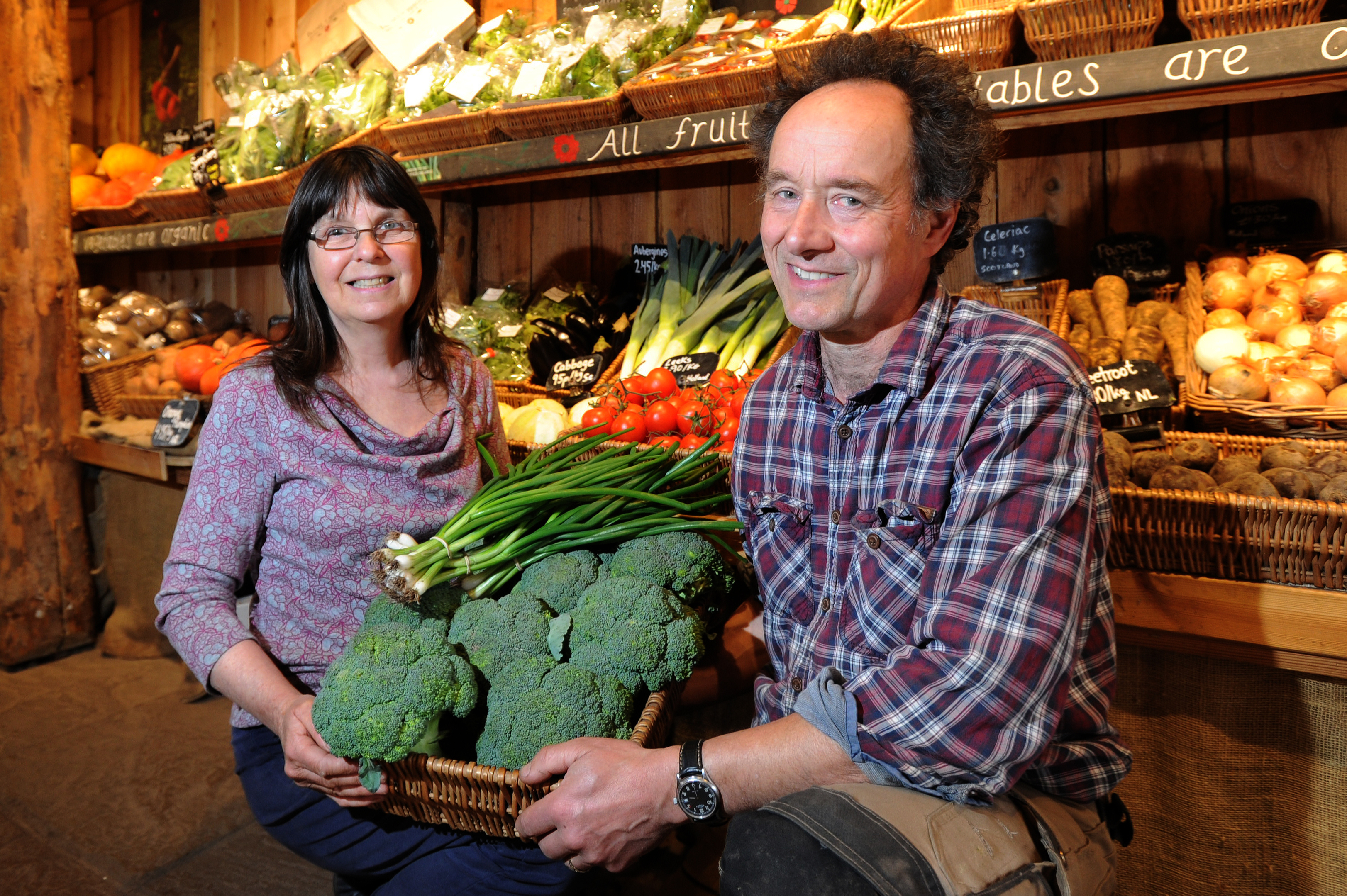 Judy and Bruce Bennett in the UK's top organic shop    Picture: Kim Cessford