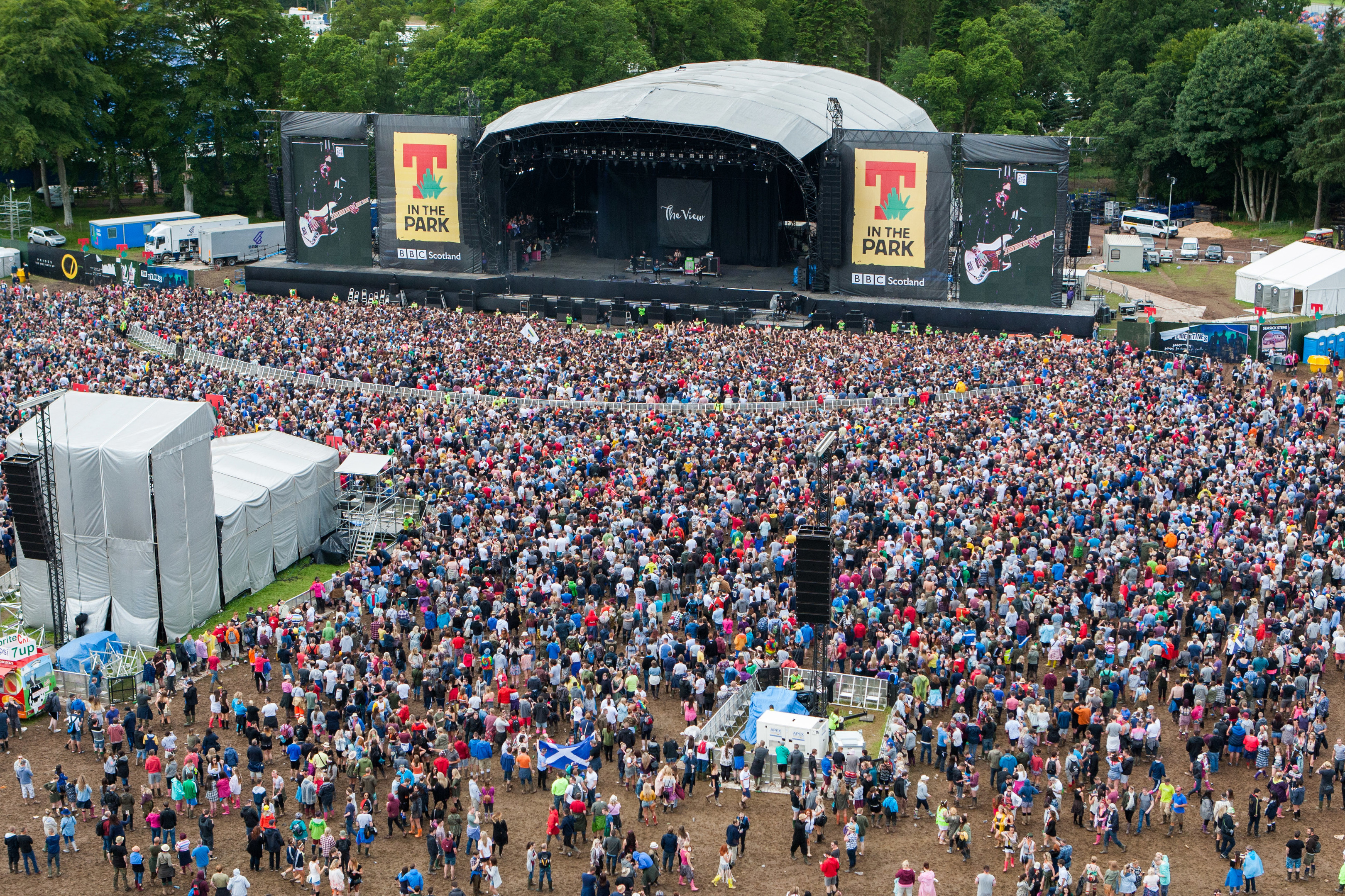 T in the Park at Strathallan, winner of the Best Scottish Festival prize.