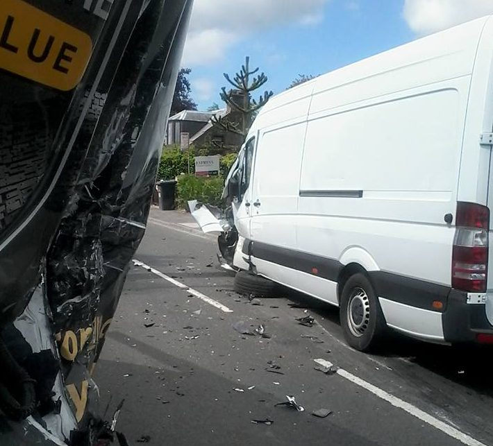 Images of the accident were uploaded to the Oor Kiirie Facebook page by Chunk Mckenzie.