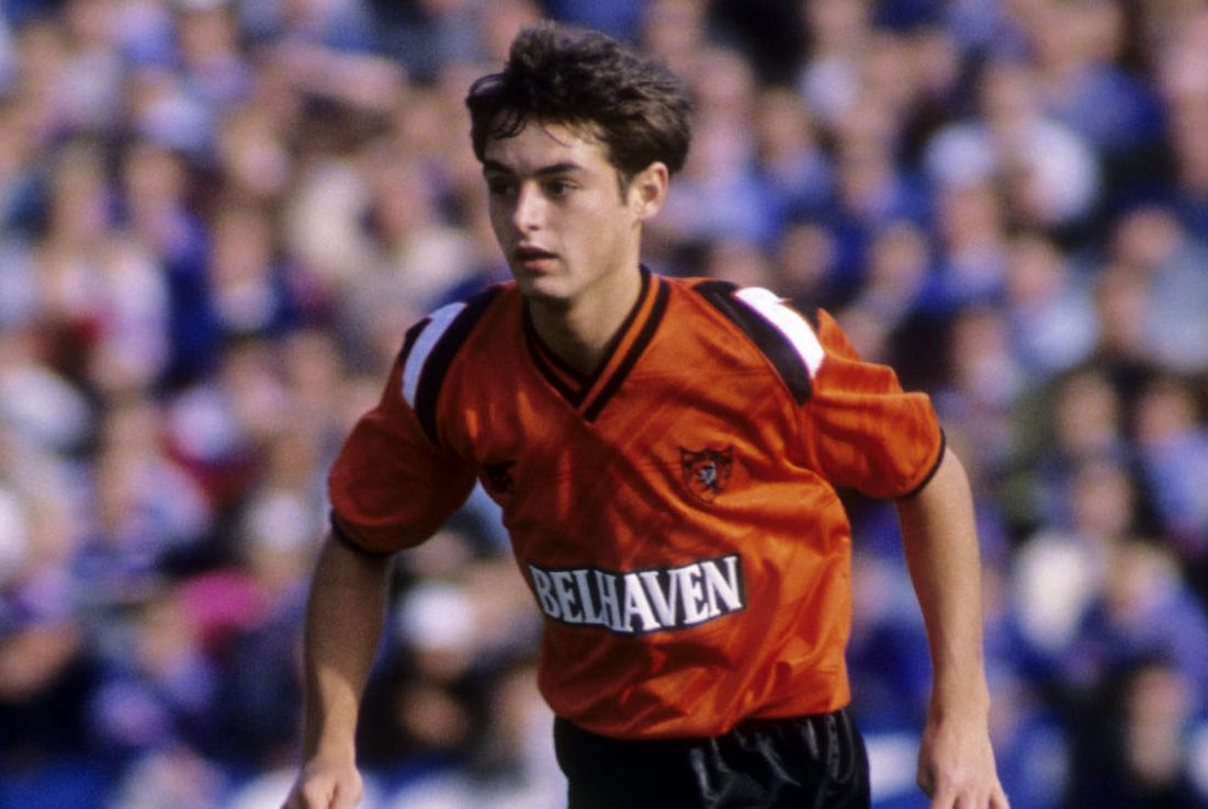 Ray McKinnon playing for United in 1990.