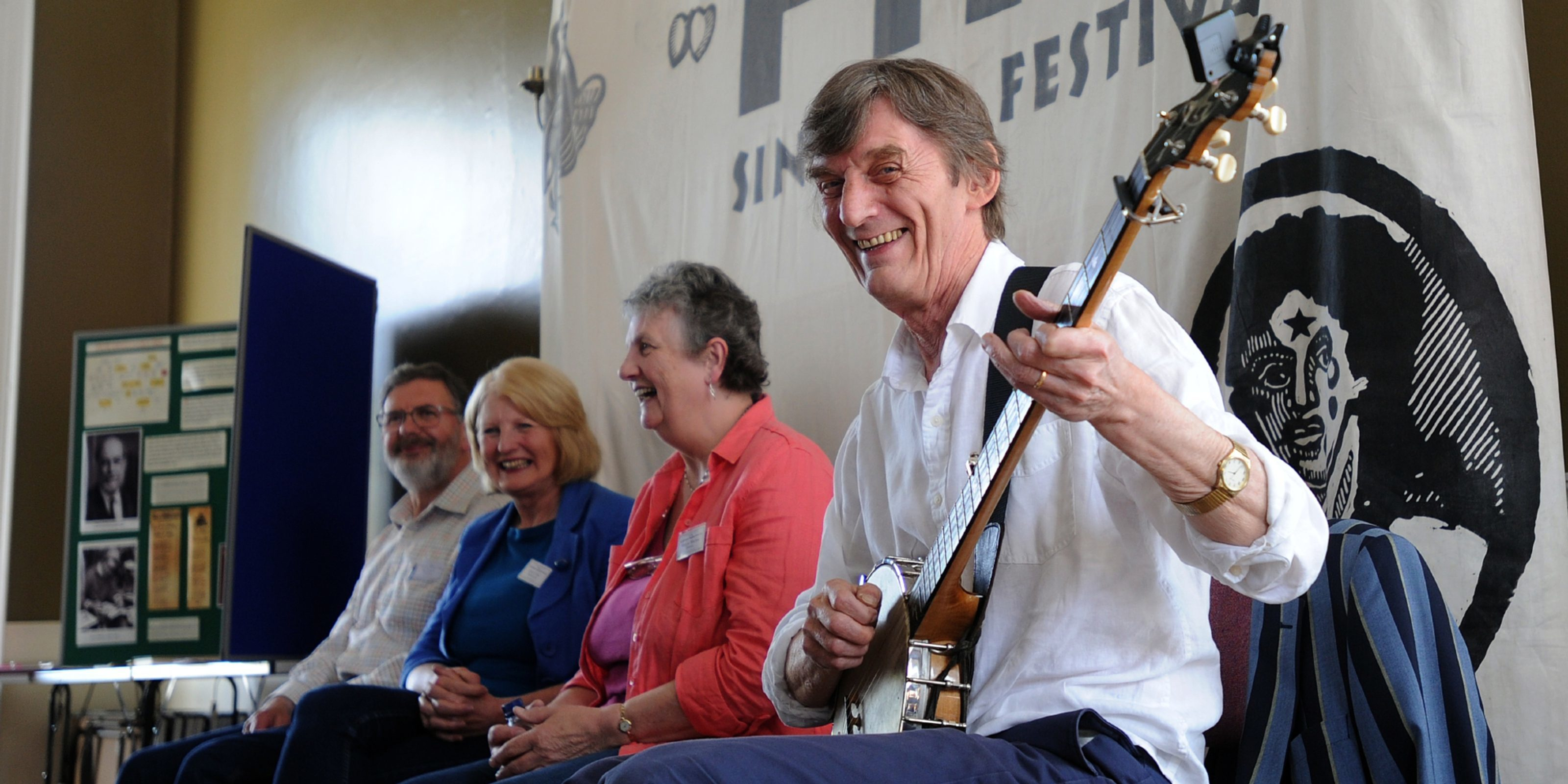 Singers Ian Russell, Janice Clark, Maggie McCrae and Pete Coe at FifeSing.